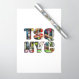 TSQ NYC, Times Square New York City lettering. Wrapping Paper