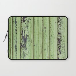 Rustic mint green grunge wood panels Laptop Sleeve