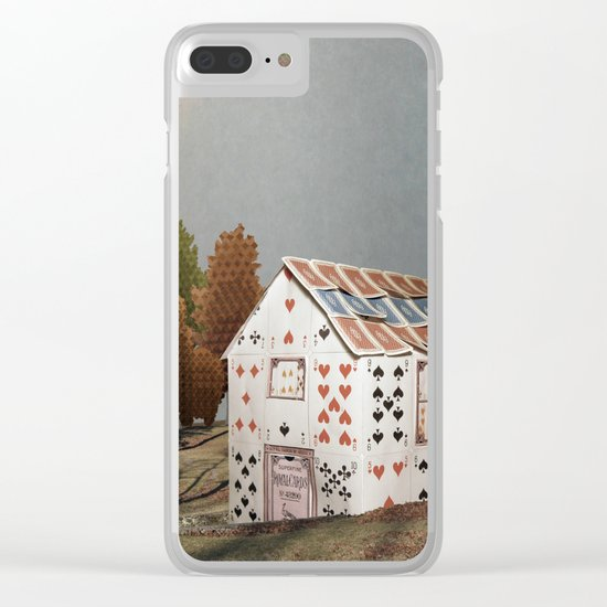 Forget about your house of cards Clear iPhone Case