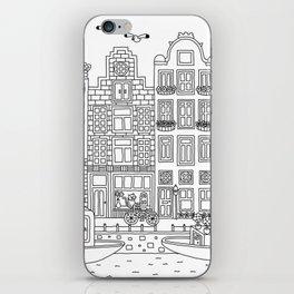 Amsterdam Line Art iPhone Skin