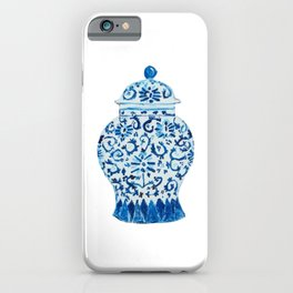Blue White Ginger Jar  iPhone Case