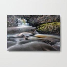 Dreamy Sgydau Sychryd Waterfalls Metal Print