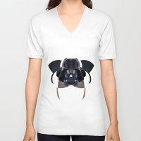 darth vader V-neck T-shirts featuring Darth Vader by lazylaves