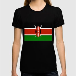 National flag of Kenya - Authentic version, to scale and color T-shirt