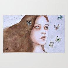 Tears and butterflies Rug