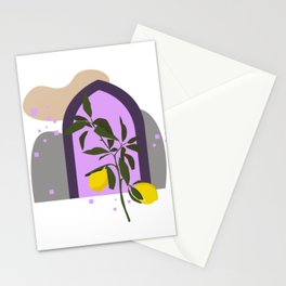 THE LEMON TREE, Botanical Wall Art Set, Abstract Print, Boho Print, Botanical Print, Tree Prints Stationery Cards