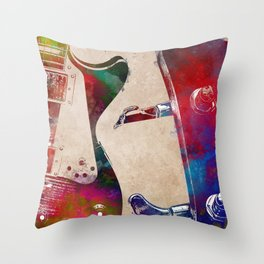 Guitar art 4 #guitar #music Throw Pillow
