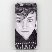 ashton irwin iPhone & iPod Skins featuring portrait of Ashton by teresartwork