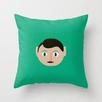 frank Throw Pillows featuring frank by 21871