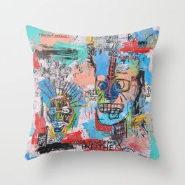 Close your eyes and breathe deeply Throw Pillow