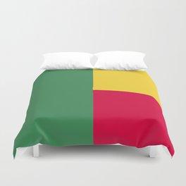 Benin flag emblem Duvet Cover