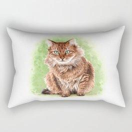 Somali cat portrait Rectangular Pillow