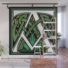 Celtic Frogs Letter A Wall Mural