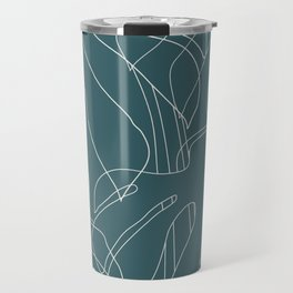 Monstera No2 Teal Travel Mug