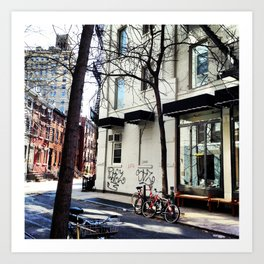 Bike in the West Village Art Print