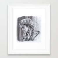 enjolras Framed Art Prints featuring Enjolras by Diminutive-Fox