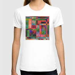 Abstract Pattern with Leaves T-shirt