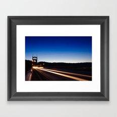 Light Stream Framed Art Print