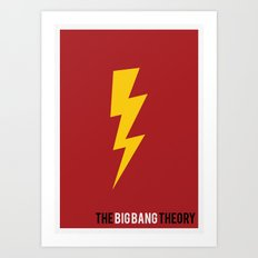 The Big Bang Theory - Minimalist Art Print