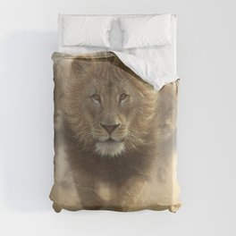 Lions Running - Eat My Dust Duvet Cover