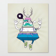 Triangle Hipster Canvas Print