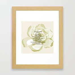 Palm of His Hands Framed Art Print