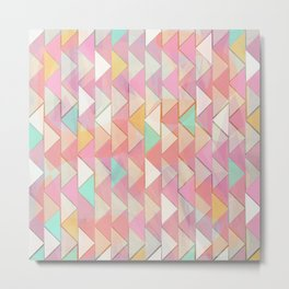 Pale Playful Chevron (8) Metal Print