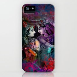 Radha Krishna- the divine iPhone Case