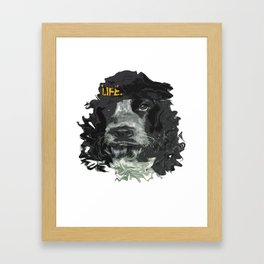DogHead Framed Art Print