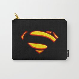 Superman Hope Symbol Logo black background Carry-All Pouch