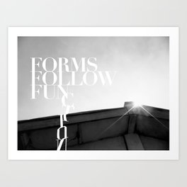 from follow fun Art Print