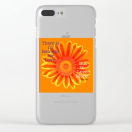 Thoreau Quote Clear iPhone Case