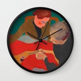 Edouard Vuillard - Les Couturieres, 1890 Wall Clock