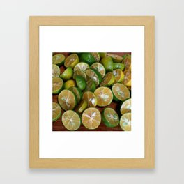 SLICES OF LIMES Framed Art Print