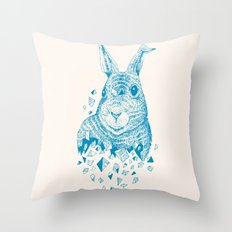 Fragments (Rabbit) Throw Pillow