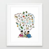 totes Framed Art Prints featuring Totes Hungry! by Dave Valeza
