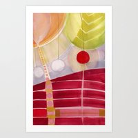 lanterns Art Prints featuring lanterns by angela deal meanix