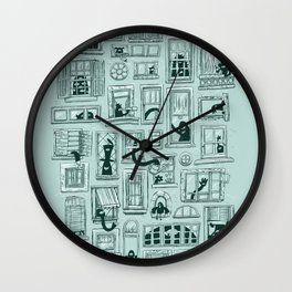 I've Seen Strange Things in City Windows Wall Clock