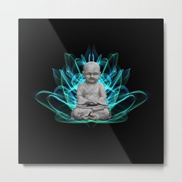 Lotus Meditating Buddha  Metal Print