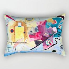 Wassily Kandinsky - Yellow Red Blue Rectangular Pillow