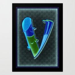 illustrated V Art Print