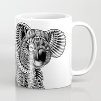 ornate Mugs featuring Ornate Koala by BIOWORKZ