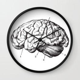 Human Brain Sideview Anatomy Detailed Illustration Wall Clock