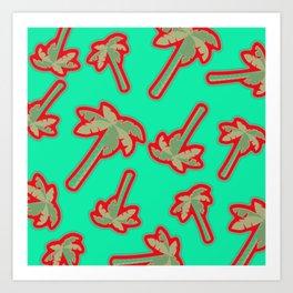 Kitch palms Art Print