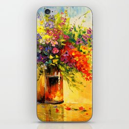 A bouquet of wild flowers iPhone Skin