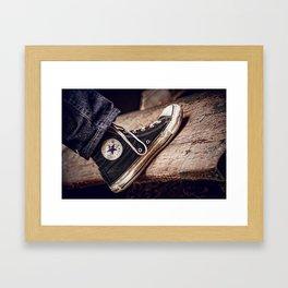 Well Loved Chucks Framed Art Print