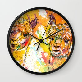 The Alpacas Wall Clock