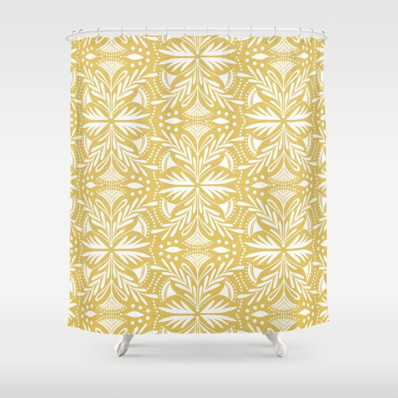 Lenox Buttercream Shower Curtain