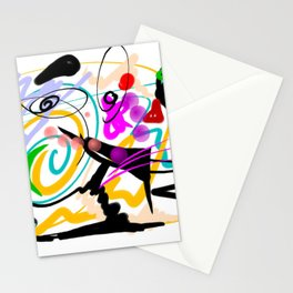 Green is the New Black - Elegant Artwork Stationery Cards