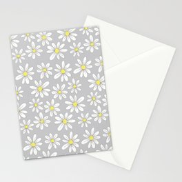 simple daisies on gray Stationery Cards